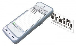 iPhone / iPod touch ケース型の2次元バーコードリーダー ASX-520R